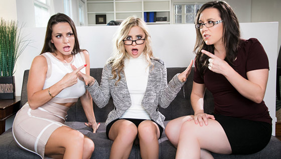 GirlsWay  Abigail Mac, Sinn Sage, Lindsey Cruz  Office Mediation