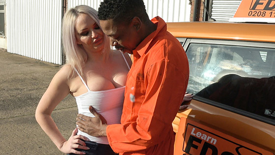 FakeDrivingSchool  Louise Lee  BBC stretches cheating wet pussy