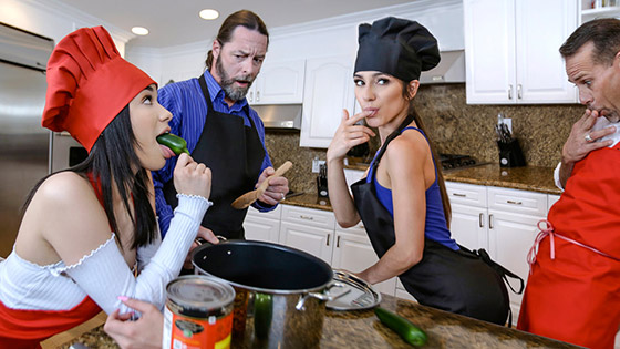 DaughterSwap  Gianna Gem, Savannah Sixx  Culinary Cock Cuties