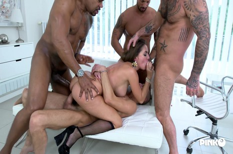Pinkoclub - Four Cocks For The Horny Malena