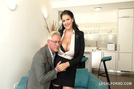 Legalporno - Glam porn - Tattooed and curvy Anissa Jolie ge her big ass fucked by old dude GP142
