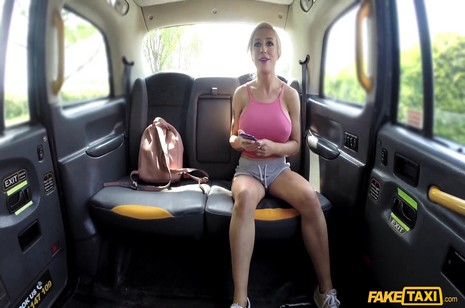 Fakehub - Faketaxi - Squirting blonde takes big anal